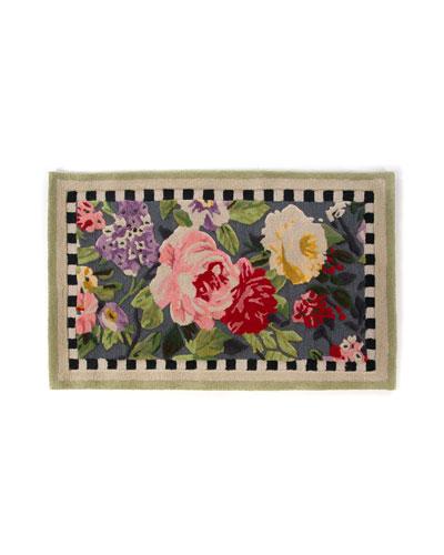 Tudor Rose Rug, 2.25' x 3.75'