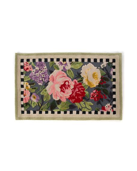 MacKenzie-Childs Tudor Rose Rug, 2.25' x 3.75'