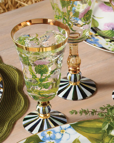 Thistle & Bee Water Glass