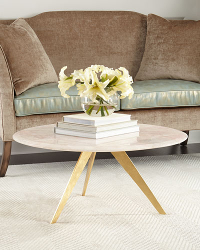 Scarlett Blush Agate Coffee Table