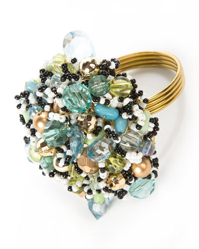 Beaded Napkin Ring - Ocean