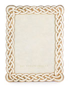 "Cream Braided Picture Frame, 5"" x 7"""
