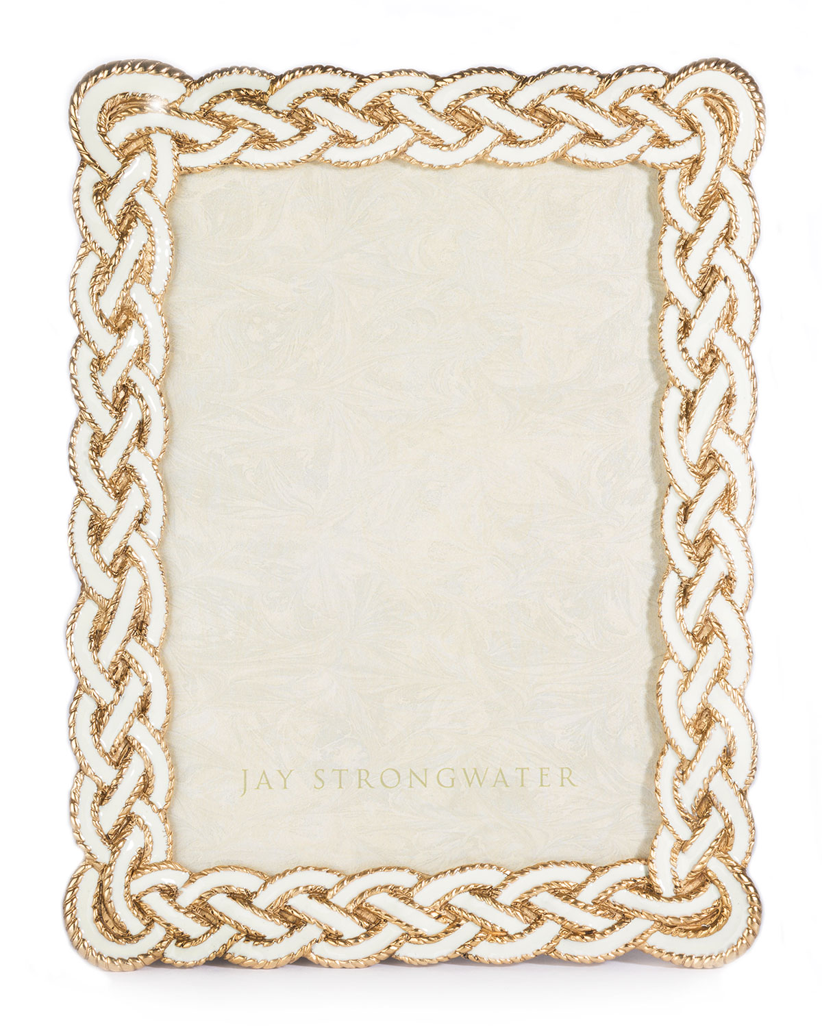 """Jay Strongwater Picture frames CREAM BRAIDED PICTURE FRAME, 5"""" X 7"""""""