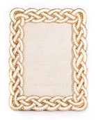 Jay Strongwater Quinn Braided Picture Frame, 3.5