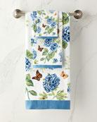 Blue Flower Garden Bath Towel
