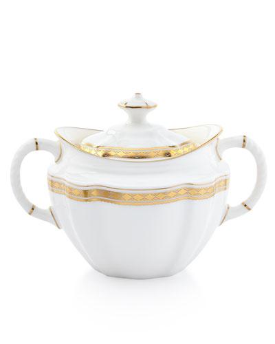 Carlton Gold Covered Sugar Bowl