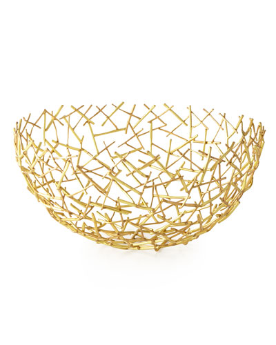 Decorative Thatch Bowl, Large