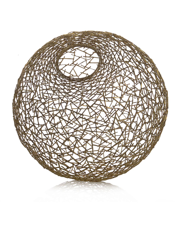 Decorative Thatch Ball, Medium