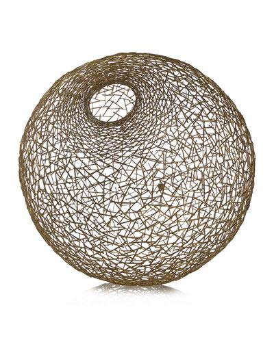 Decorative Thatch Ball, Large