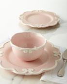 12-Piece Arabesque Dinnerware Service, Pink
