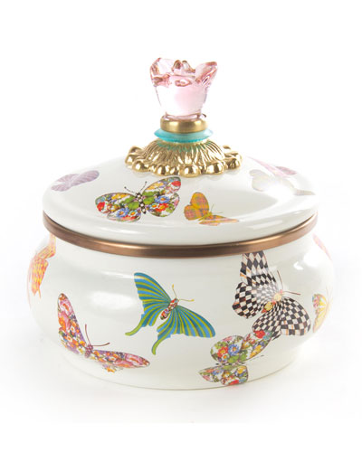 Butterfly Garden Squashed Pot