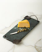 Small Rainforest Cheese Board and Knife