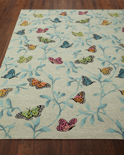 Butterfly Blossom Indoor/Outdoor Rug, 7'6