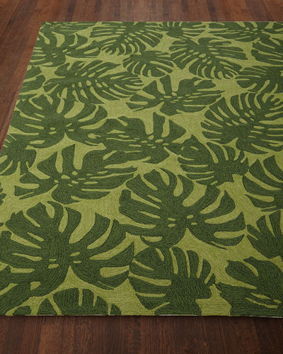 Fond Leaf Indoor/Outdoor Rug, 5' x 7'6