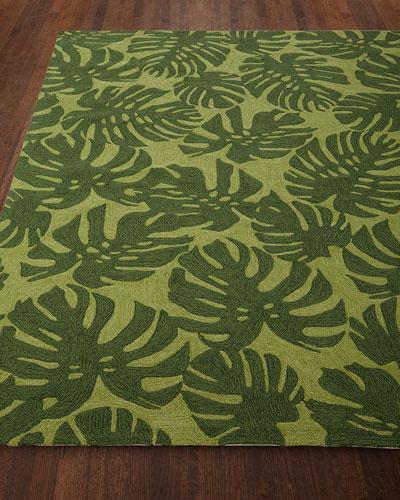Fond Leaf Indoor/Outdoor Rug, 7'6 x 9'6