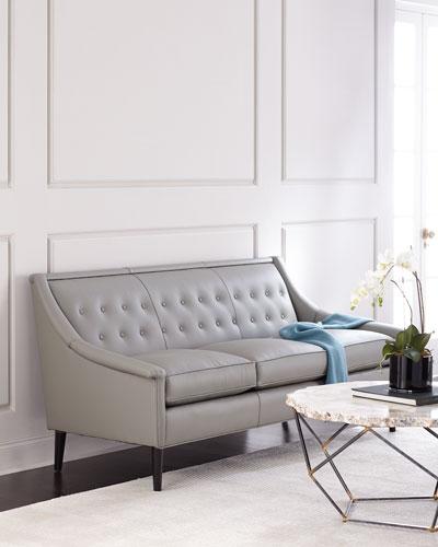 Gerald Tufted Back Leather Sofa