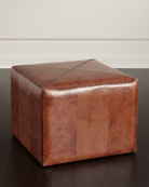 Boland Large Leather Ottoman