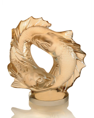Double Fish Crystal Sculpture