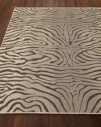 Zebra Terrace Indoor/Outdoor Rug, 4'10