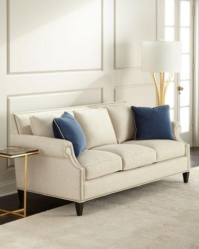 nailhead trim sofa neiman marcus rh neimanmarcus com leather sofa with nailheads leather sofa with nailheads