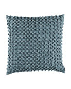 "Jackie Ribbon Pillow, 20""Sq."