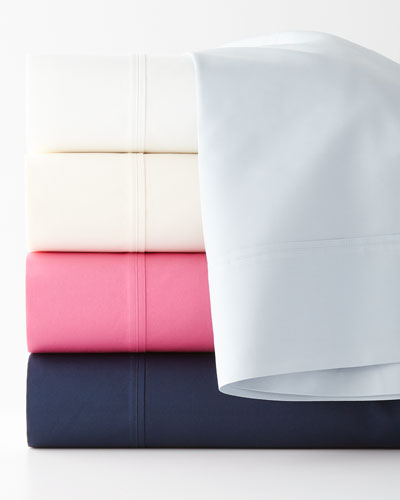 Two King 464TC Percale Pillowcases