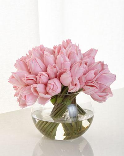 Pink Tulip Faux Floral