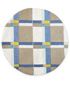 Beaded Blue Plaid Placemat