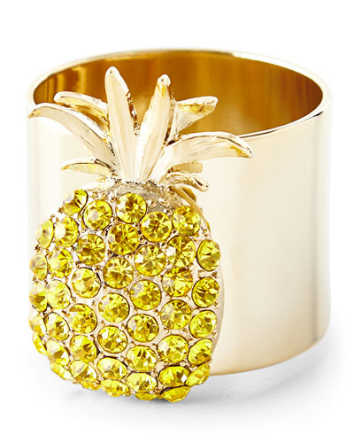 Pineapple Napkin Rings, Set of 2
