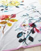 Couture Rose Fuchsia Beach Towel