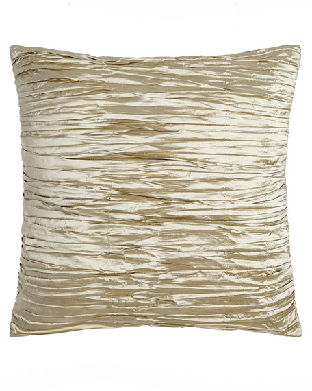 Austin Horn Collection Blossom Pleated Silk European Sham