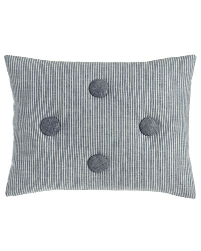 Maze Striped Pillow with Button Accents, 12