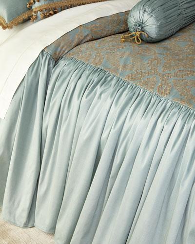 Queen Genevieve Skirted Coverlet