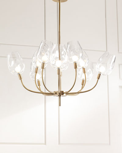 10-Light Glass-Globe Chandelier