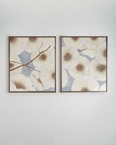 Elegance Blooms Original Paintings, Set of 2