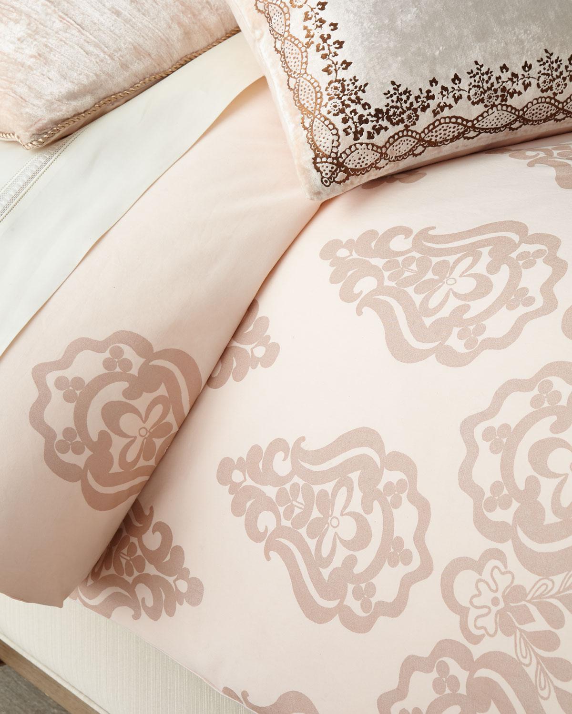 Rose Gold Queen Duvet Cover