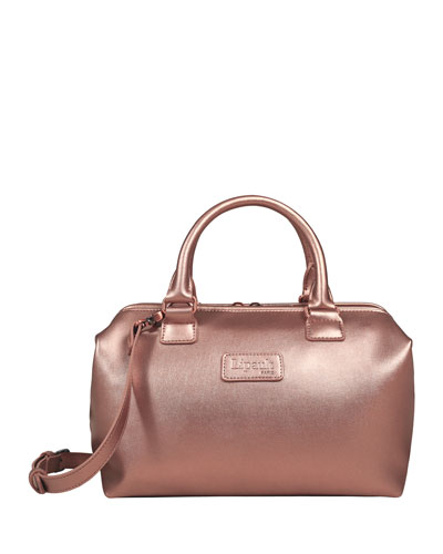 Pink Gold Lady Plume Bowling Bag, Small