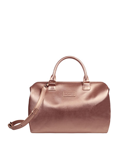 Pink Gold Lady Plume Bowling Bag, Medium