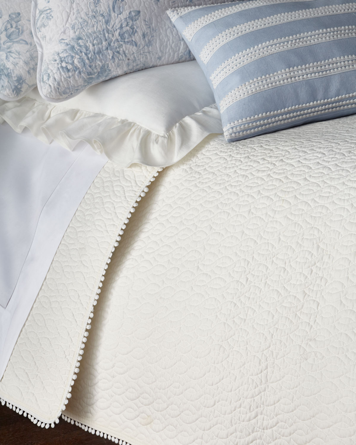 Twin 3Piece Darvy Cable Quilt Set