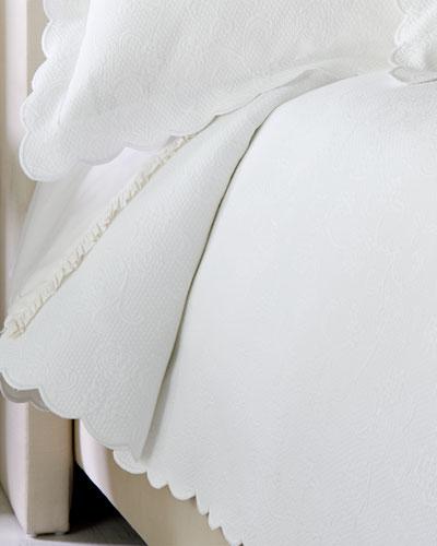 Quick Look. SFERRA · Full/Queen Floral Matelasse Coverlet