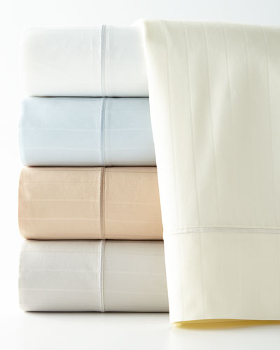 Queen Marcus Collection 400 Thread-Count Striped Sheet Set
