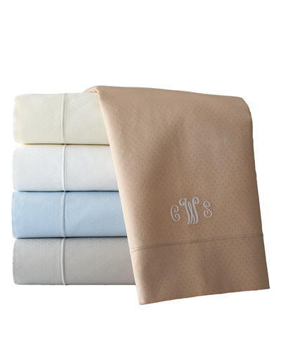 California King Marcus Collection 400 Thread-Count Dot Sheet Set