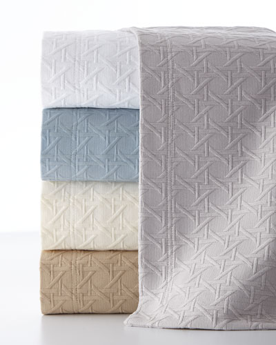 Full/Queen Marcus Collection Cane Matelasse Coverlet