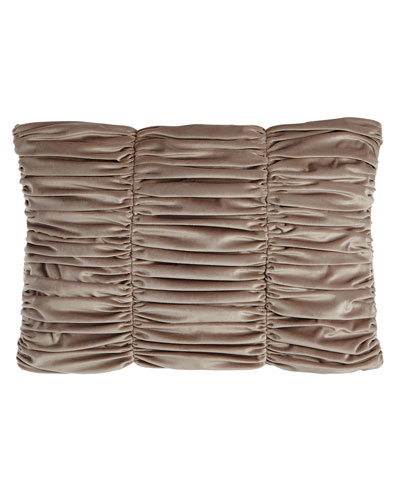 Tranquility Ruched Velvet Pillow, 14