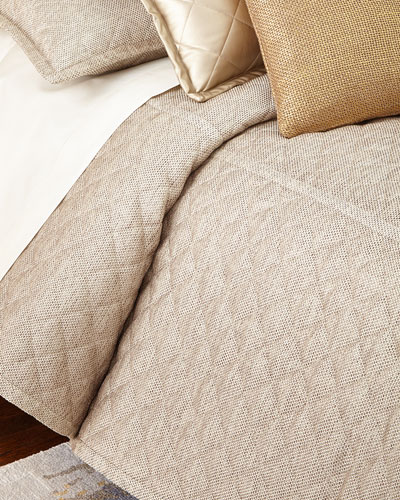 Queen 3-Piece Raffia Coverlet Set