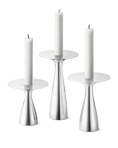 Georg Jensen Alfredo Candleholders, Set Of 3