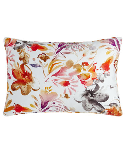 Watercolor Floral Boudoir Sham