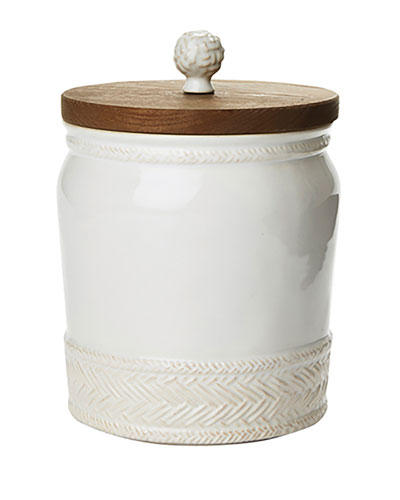 Le Panier Whitewash Canister, 7.5
