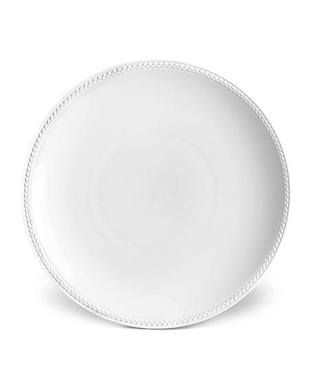 L'Objet Soie Tressee White Soup Plate