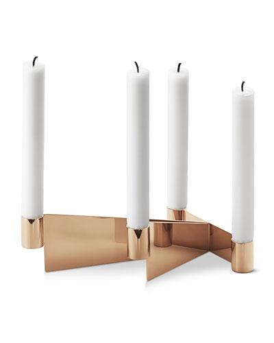 Urkiola Brass-Colored Candleholder